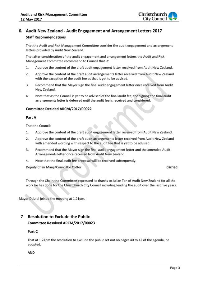 Agenda Of Council   June