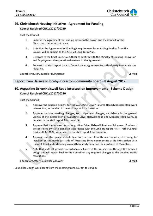 Agenda Of Council   September